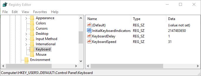 Τροποποίηση μητρώου για την ενεργοποίηση του numlock κατά την εκκίνηση των Windows